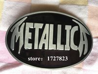 belt company - Metallica music belt buckles Silver belt buckle Retail company Texas Fashion Mens Western Turbo Nos Tunning suitable