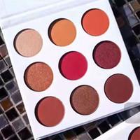 Wholesale Kylie Jenner The Burgundy KyShadow palette waterproof glitter eyeshadow pallete eyeshadow pallets Kylie cosmetics vs royal peach limited