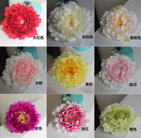 arches wall - High simulation bloom peony flower head decorative artificial flowers wedding floral silk flower DIY flower wall arches