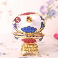 Wholesale luxurious souvenir Music Box gift handicraft Egg carving type wedding birthday precious gift girl best love