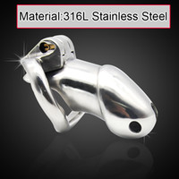 Wholesale Male L stainless steel Luxury ultimate standard Cage version Chastity Device A257