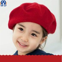 Beret Yarn Dyed Casual Fashion Children Berets Solid Color Warm Wool French Kids Baby Beanies Hat Ski Cap For Girls Drop Shipping MZ0008