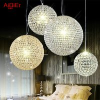 Wholesale high quality Crystal chandelier modern minimalist European style boutique spherical living room bedroom hotel villa lighting