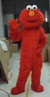 big eye music - 2015 New Long fur red big eyes costumes elmo mascot costumes
