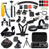 aluminum outings - Accessories Great Kit Bundle For Gopro Hero Go Pro Hero Camera Outdoor Sports Swimming Rowing Surfing Diving Outing etc