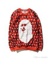 ape animal - New Style Autumn Winter Men Women Casual APE Brand Printing Sweatshirt Loves Pullover Long Sleeve Loves Loose Fleece Sweater Coat