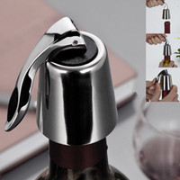 Wholesale Stainless Steel Reusable Vacuum Sealed Red Wine Bottle Stopper Plug Cap Pressing type Tool