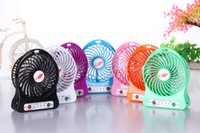 Wholesale Portable Mini USB Fan Rechargeable Battery Operated LED Lamp for Indoor Outdoor Kids Table Fan Battery With Retail package