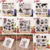 Wholesale sheet DIY New Cartoon Transparent Clear Rubber Stamp Seal for scrapbooking photo album Decorative silicone stamp cm