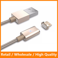 Wholesale Magnetic Charging Cable M Fast Charging Lightning Metal Weave Cable USB Sync Cable for Galaxy s7 s7 edge Andriod Phone