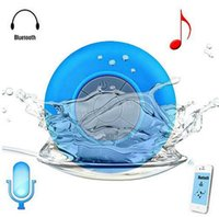 Wholesale Mini Portable Shower Waterproof Wireless Bluetooth Speaker Subwoofer Car Handsfree Call Music Suction Mic For iOS Android Phone