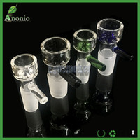 Wholesale Slide Glass Bowls mm mm mm For Glass Water Pipes and Bongs With Snowflake Filter Bowls And Handle Smoking Accessories