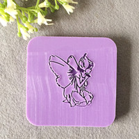 acrylic glass mold - natural handmade acrylic soap seal stamp mold chapter mini diy fairies patterns organic glass X4cm