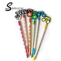 Note crayon France-Crayons gros-2PCS / Lot Enfants étudiants Papelaria Kawaii Mignon Remarques en bois standard Pencil Papeterie Fournitures scolaires Cadeaux Enfants