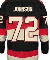 Wholesale johnson Ottawa home away Jersey shirts size S small xl