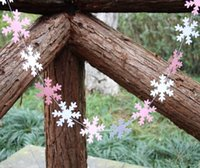 baby shower stores - Store decor pink and white snowflake Garland baby shower decor snowflake banner Christmas Garland