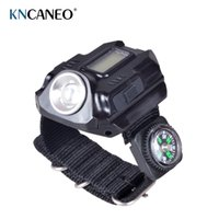 Wholesale 2016 New Portable Wrist Watch Flashlight Torch Light USB Charging Wrist Model Tactical Rechargeable Flashlight