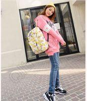 american flag backpack - 120PCS LJJM87 Korean Mi Flags Leaf Simpson Backpack Fashion Canvas Bags Unisex Men Women Backpack Travel Sport Hiking Bag