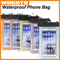 DHL gratuit Téléphone étanche eau Boîtier étanche Téléphone Underwater Cas Cas Dry Bag Pouch PVC Cartoon pour iPhone Samsung Téléphones cellulaires de 6.0inch