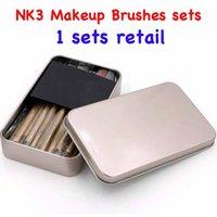 angled eyeshadow brush - NK3 tech Makeup Brushes sets Golden box kits Tools Powder Eyeshadow Eyebrow Lip Eyeliner Eyelid Angled Contour sets sets retail