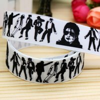 apparel international - 7 quot mm White Black International SuperStar Dancers Jackson Printed Grosgrain Ribbons Apparel Accessories Yds A2