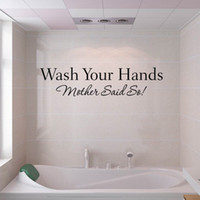 bath decals - Wash your hands wall sticker quotes Bathroom toilet wall Decor poster Waterproof Art Vinyl decal bath room wall paper