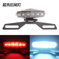 Wholesale Motorcycle License Plate Mount Holder Bracket w LED License Brake Tail Lights