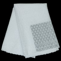 Wholesale Cord cotton French dry lace Swiss Voile Lace African Lace Fabric Soft Gown Long Lace