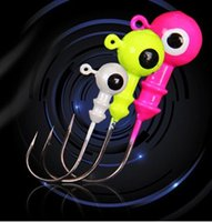Wholesale Beautiful Lead Head Hook Ball Heads Fishing Lure Jigging Hooks Exposed Lead Jig Head Soft Lure