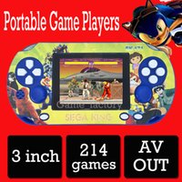 Wholesale 3 Inch TFT LCD Classical Portable Game players Portable Handheld Game Console For SEGA bit Game Cassette PXP With Games
