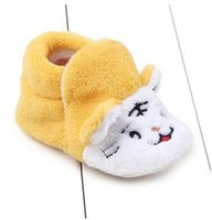Cheap Boy baby shoes Best Winter Coral fleece baby coral shoes