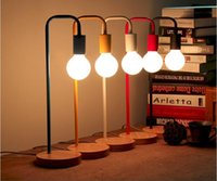 Wholesale 2016 new arrivals creative Nordic Brief colorful Personality Modern Desk Lamp Bedroom Study Table Lights AC85 V LED desk light