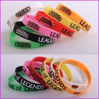 Wholesale 7 Color LOL Bracelets League of Legends Wristband Silicon Bracelet Promotion Gift For LOL Gamers Friends Gift