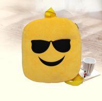 baby xmas ornaments - 2017 Kids Emoji Plush Backpacks Emoji Schoolbags Stuffed Shoulder Bag Emoji Cartoon Book Doll Bag Baby Plush Emoji Back Style Xmas Gifts