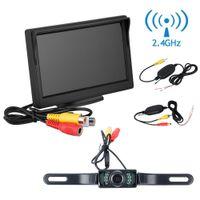 "Cheap car dvr 5"" TFT LCD Monitor Car Rear View Kit Wireless Transmitter Receiver Car Backup Reverse Camera Parking System"