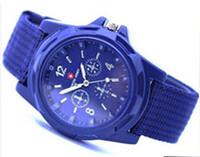 Precio de Gifts-2016 relojes análogos de lujo SWISS ARMY moda reloj de pulsera deporte alternativo del estilo militar de reloj para hombre Ginebra mira el regalo de Navidad ..