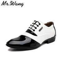 animal wedges - 11 Styles new fashion men s Patent leather shoes PU leather white dress shoes for men white wedding shoes size WGG
