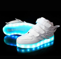 Wholesale 25 Size USB Charging Basket Led Children Shoes With Light Up Kids Casual Boys Girls Luminous Sneakers Glowing Shoe enfant HJIA593