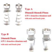 best saler - DHL Free BEST SALER GR2 TITANIUM NAILS Infinity Titanium Nails Universal Domeless Titanium Nails Most Convenient