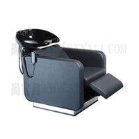Wholesale shampoo bed salon furniture comfortable salon hairwashing bed black cool fashion shampoo bed good quality