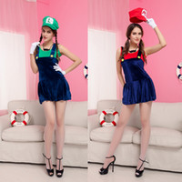 Wholesale Sexy Costumes For Role Play - Wholesale Female Role Playing Game Uniforms Halloween Party Cartoon Costume Ladies Sexy New Cute Dress Costumes for Adults Wholesale