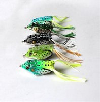 bass soft baits - 50Pcs New Style Soft Toad Frogs Bass Fishing Lure Soft Plastic Hollow Fishing Lure Crankbait Hooks