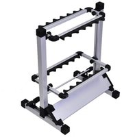 Wholesale 2016 New Fishing Rod Support Aluminum Alloy Rod Stand Display Rack Fishing Tackle Tool