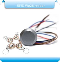Wholesale KHZ RFID Dito reader wiegand26 id mini lettore di controller di access system crystal keyfobs