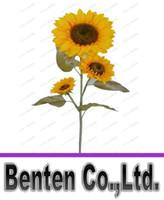 beautiful design homes - 3heads bouquet Beautiful Design New Artificial Sunflower Silk Flowers Home Office Garden Decor Hand Made For Decoration LLFA8966