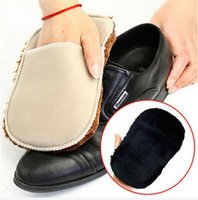 Wholesale Multifunctional Soft Plush Wipe Shoes Mitt Brush Cleaning Gloves Shoes Care Tool Good Helper