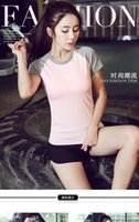 american football shirt designs - Young Girl Yoga set quick drying New design Women Fitness Clothes Lady Sport T shirt set