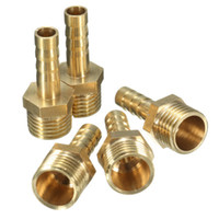 Wholesale 5pcs Brass Inch PT Male Thread mm Air Water Fuel Hose Fitting Adapter Connectors