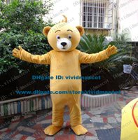 big foot costume - Naivete Yellow Teddy Bear Mascot Costume Cartoon Character Mascotte Adult Big Feet Small Mouth Black Nose NO