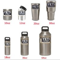 Wholesale YETI Cup oz oz oz oz oz oz oz Cups Cooler YETI Clear Lids Rambler Tumbler Travel Vehicle Beer Mug Double Wall